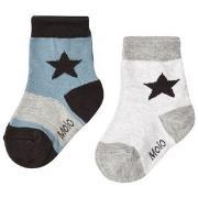 Molo Nitis 2-Pack Socks Light Grey Melange 35-38 (8-10 år)