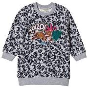 Kenzo Grey Jungle Floral Logo Sweat Dress 14 years