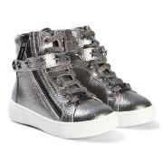 Michael Kors Silver Ivy Cadet Zip Sneakers 25 (UK 8)