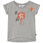 Molo Ragnhilde T-Shirt Floral Greymelange 104 cm (3-4 år)
