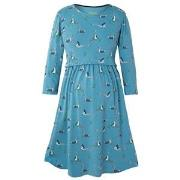 Frugi Blue Geese Jersey Smock Dress M