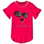 Guess Pink Sequin Girl Logo Tee 8 years