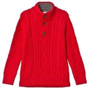 GAP Mock Modern Red Sherpa Sweater XS (4-5 år)
