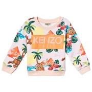 Kenzo Hawaii Sweatshirt Light Pink 8 years