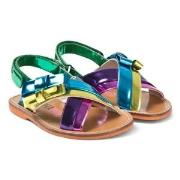 Sophia Webster Mini Andie Bow Sandals Multi Metallic 31 (UK 12.5 / 8 y...