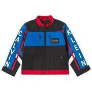 Calvin Klein Jeans Black Color Block BMX Jacket 4 years