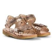 Angulus Rose Gold Butterfly Open Toe Sandals 22 (UK 5)
